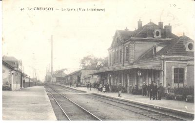 La Gare du Creusot. Mise en circulation le 14 septembre 1914, Collection Rochette