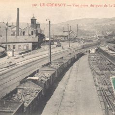Le Creusot. Vue prise du pont de la Direction. Carte postale mise en circulation le 11 mars 1911. Collection privée.