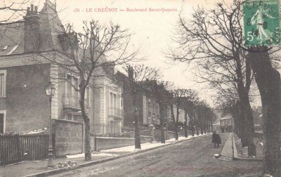 Vue du boulevard Saint-Quentin. Carte postale mise en circulation le 8 juin 1914. Collection privée.
