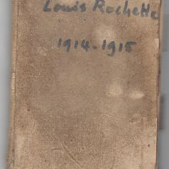 Couverture du carnet personnel de Louis Rochette. Collection Rochette