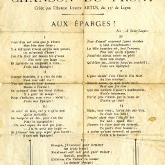Paul Constant Moutardier, Chant des Eparges